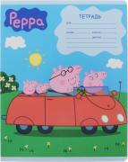 Росмэн Тетрадь в линейку Свинка Пеппа в машине 12 листов