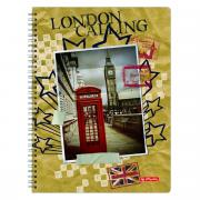 Herlitz Тетрадь City Trips London 70 листов в клетку формат A4