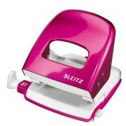Дырокол Leitz Nexxt 50082023 до30 листов розовый слинейкой
