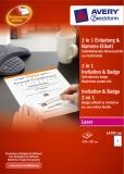 Приглашение и бедж 2 в 1 (L4797-100)