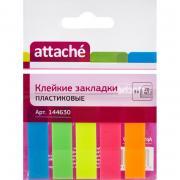 Клейкие закладки Attache пластиковые 5цветов по20 листов 12х45мм