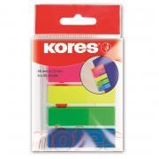 Клейкие закладки Kores Film пластиковые 5цветов по25 листов ширина...