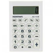 """Калькулятор """"Assistant AC-1116"""", 8-разрядный, цвет: белый"""