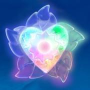 Светильник-ночник Uniel DTL-302-Цветок/Pearl/4LED/0 5W