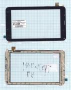 - Сенсорное стекло (тачскрин) NJG070123ACGOB-V4 черный, Диагональ 7