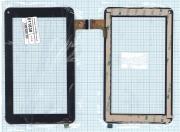 - Сенсорное стекло (тачскрин) Y7Y007(86V) черный, Диагональ 7