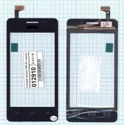 - Сенсорное стекло (тачскрин) Huawei Y301-A1 черный, Диагональ 4