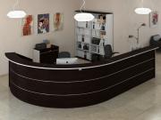 Комплект офисной мебели Pointex Зум Темный K2 Темный дуб