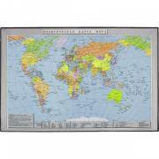 Коврик на стол Attache Карта мира 380x590 мм цветной