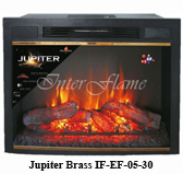 Электроочаг InterFlame Jupiter 30 Black/Brass LED FX