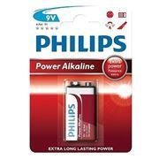 Батарейка 9V PHILIPS 6LR61-1BL щелочная