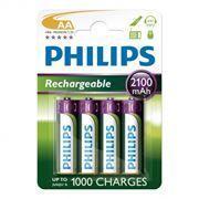 Аккумулятор AA PHILIPS HR6-4BL 2100mA/ч Ni-Mh, 4шт, блистер