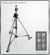 Kupo (484) Heavy Duty Wind-up Stell Stand w/Casters Lighting Stand...