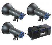 Комплект студийного света Hensel Integra Mini 600, 3x600 Дж