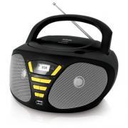 Аудиомагнитола BBK BX180U черный/желтый (BX180U черный/желтый)