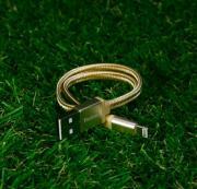 Золотистый усиленный USB-кабель Lightning Yoobao Yb-413 30 см