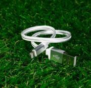 Серебристый усиленный USB-кабель Lightning Yoobao Yb-413 30 см