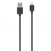 Кабель интерфейсный Belkin Lightning to USB, Black F8J023bt04-BLK