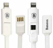 Кабель USB Baseus Dual port series 20cm Apple/Android White