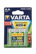 Аккумулятор AA - Varta R6 1600 mAh (4 штуки)