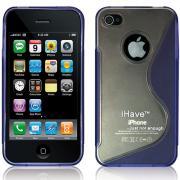 """Чехол, задняя панель для iPhone 4 / 4S """"Волна"""" (фиолетовая) BI0310"""