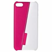 Накладка Jisoncase для iPod touch 5 двухцветная бело-розовая