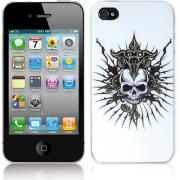 Чехол, задняя панель для iPhone 4 / 4S (белый пластик, монстр) BI0316