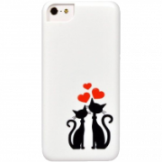 Icover Cats Silhouette IP5-DEM-SL43 White (Чехол для iPhone 5/5S)