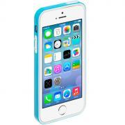 Deppa Candy Bumper чехол-бампер для Apple iPhone 5/5s, Light Blue