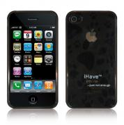Панель, бампер для iPhone 4 (эластичная, черная) BI0306