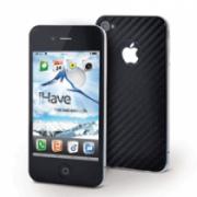 Чехол iHave Защитная пленка Карбон iPhone 4 на заднюю панель BI5702