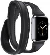 Griffin Uptown Double-Wrap Band, Black ремешок для Apple Watch (38 мм)