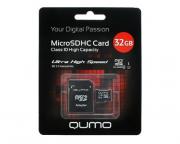 QUMO MicroSDHC Card 32GB Class 10