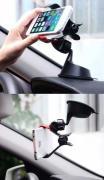 Автодержатель для смартфона с креплением на стекло/торпеду Baseus...