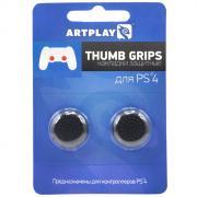 Artplays Thumb Grips защитные накладки на джойстики для PS4, Black (2...