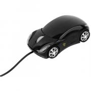 Мышка оптическая Спорткар, черная