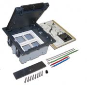 Коробка монтажная Lanmaster LAN-WA-FLBP-F45/4