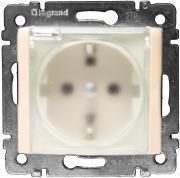 Розетка Legrand Valena влагозащищенная IP44 с заземлением с крышкой со...