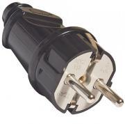 Вилка электрическая прямая UNIVersal с заземлением, 16 А, 250 В, цвет:...