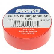 Изолента ABRO 19mm x 0.12mm x 9.1m Red ET-912-R-R