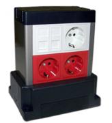 Коробка напольная Lanmaster LAN-WA-TWR2-F45/4