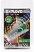 USB Flash Drive 64Gb - Exployd 530 Green EX064GB530-G