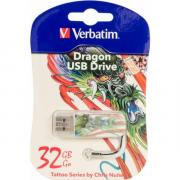 Usb-флешка Verbatim Store n Go Mini 49899 32GB, белая/рисунок