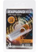 USB Flash Drive 4Gb - Exployd 530 Orange EX004GB530-O