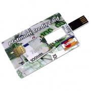 USB Flash Drive 4Gb - Эврика Кредитка Platinum Credit Card Евро 94244
