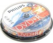 Диск DVD+R 8x, 8.5Gb, Dual Layer, Philips Cake Box (10шт.) []