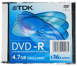 DVD-R TDK 4.7Gb 16x Slim