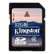 Карта памяти SDHC 32Gb Kingston Class 4 (SD4/32GB)
