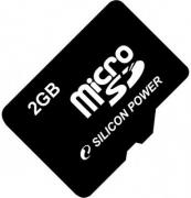 Карта памяти MicroSD 2Gb Silicon Power (SP002GBSDT000V10)