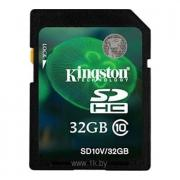 Флеш карта SDHC 32Gb Class10 Kingston SD10V/32GB
